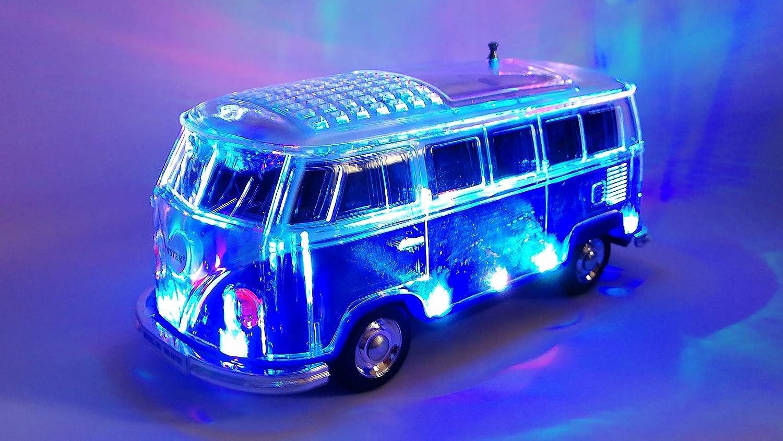 Crystal Car Speaker Multimedia Radio mit MircroSD Slot USB Bluetooth Box Bus mit LED Rot
