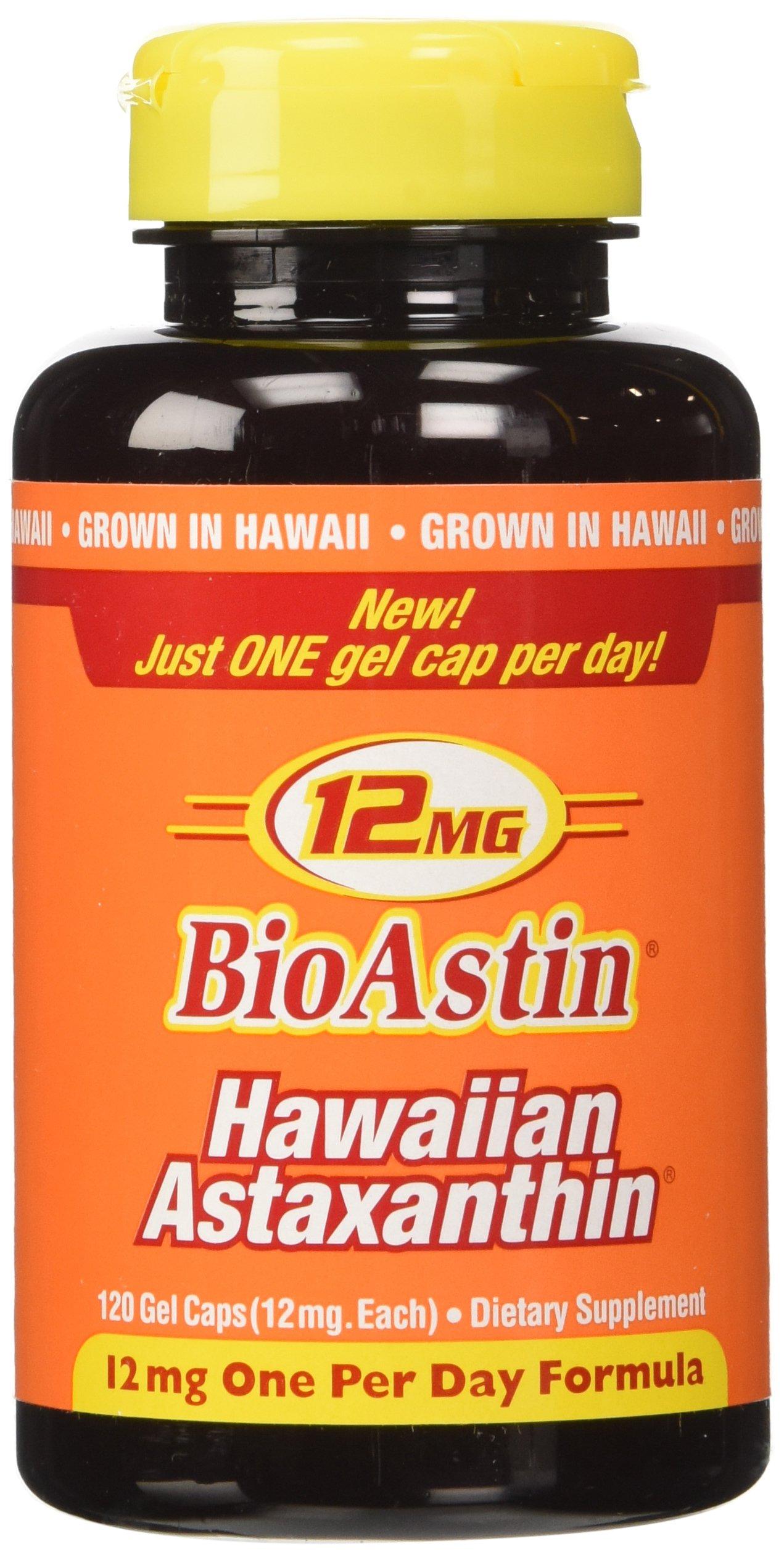 Nutrex Hawaii Bioastin Hawaiin Astaxanthin 12mg - 2 Bottles, 120 Gel Caps Each