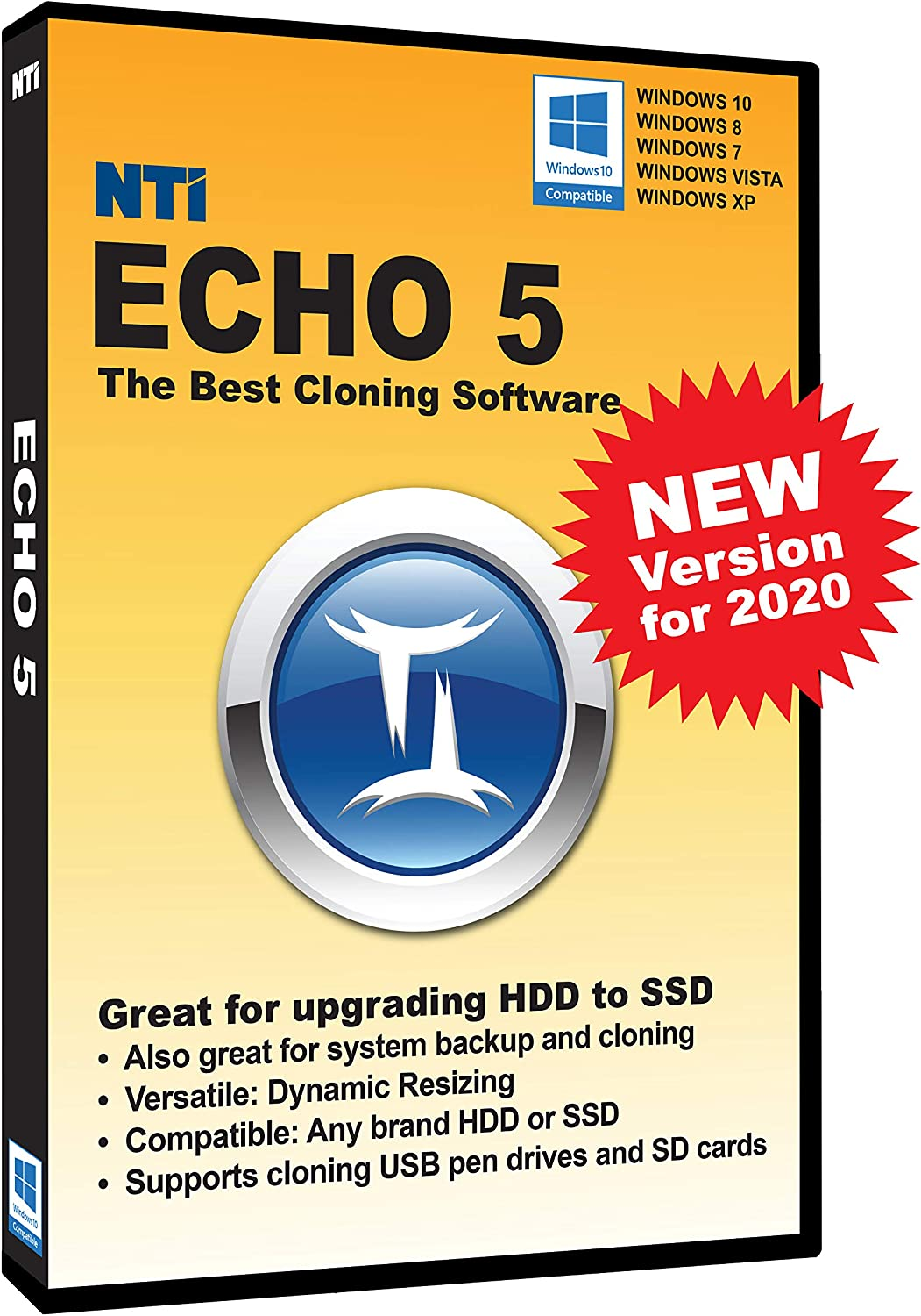 NTI Echo 5 | New Version! | The Best Cloning Software. It Simply Works | Make an exact copy of a HDD, SSD or NVMe, with Dynamic Resizing
