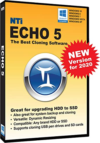 Amazon Com Nti Echo 5 New Version Available In Download Instructions Inside Package The Best Cloning Software It Simply Works Make An Exact Copy Of Hdd Ssd Or Nvme