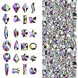 Massive Beads - Cristales 3D AB | Decoración de uñas, piedras de diamante para decoración de uñas, zapatos, bolsos y…