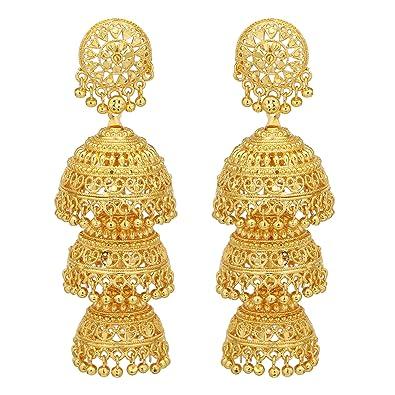 Buy Ziku Jewelry Bollywood Style One Gram Gold Plated Brass Metal