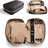 CASE ELEGANCE Large Jewelry Travel Organizer with Full-Grain Scratch-Proof Leather