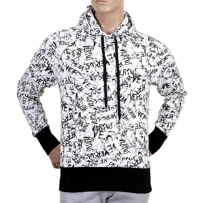 Versace blanco Graffiti Imprimir Sudadera con capucha vers5449 Blanco blanco Medium: Amazon.es: Ropa y accesorios