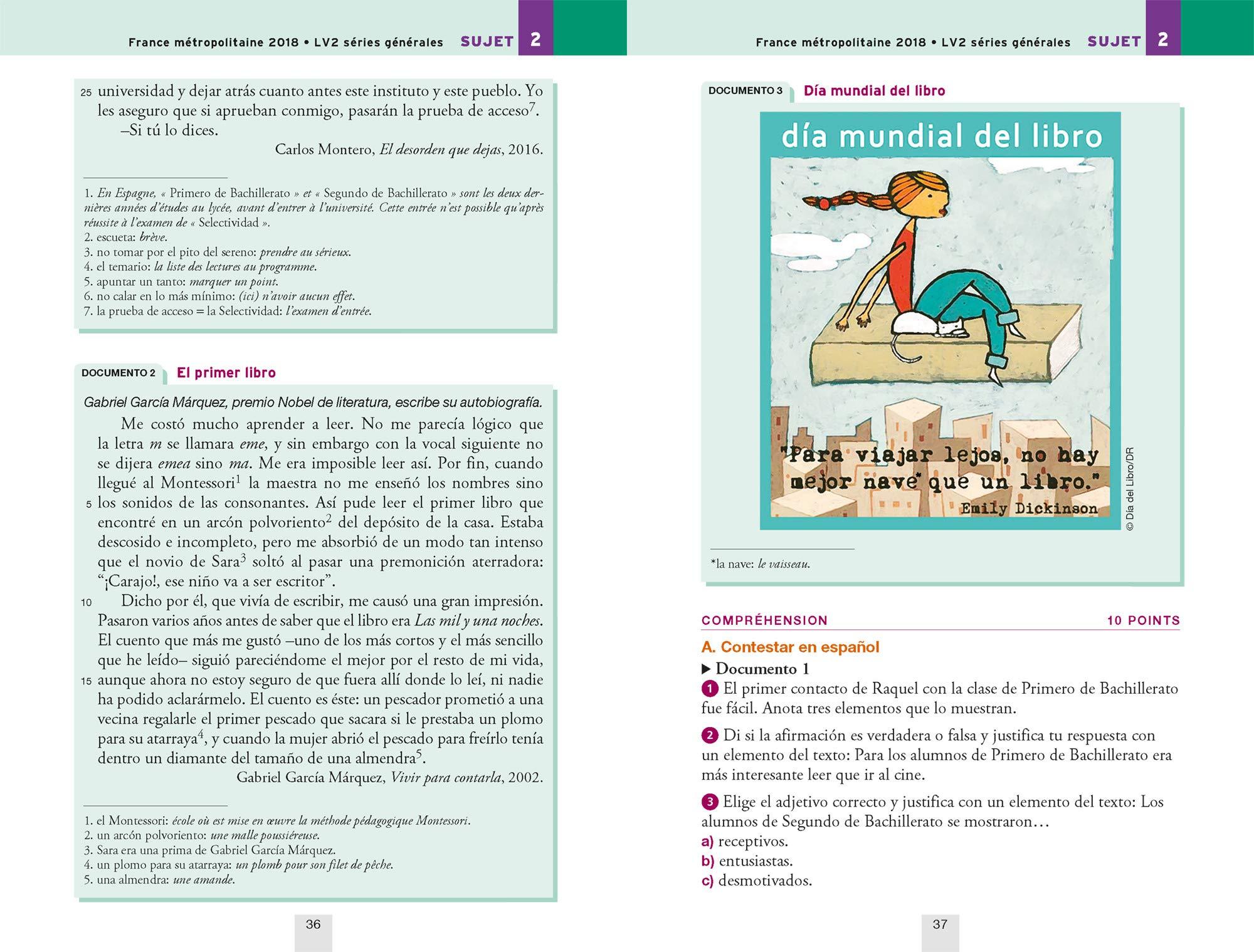 Annales Annabac 2019 Espagnol Tle LV1 et LV2: sujets et corrigés du bac Terminale toutes séries: Amazon.es: Jean-Yves Kerzulec, Tania Saenz: Libros en ...
