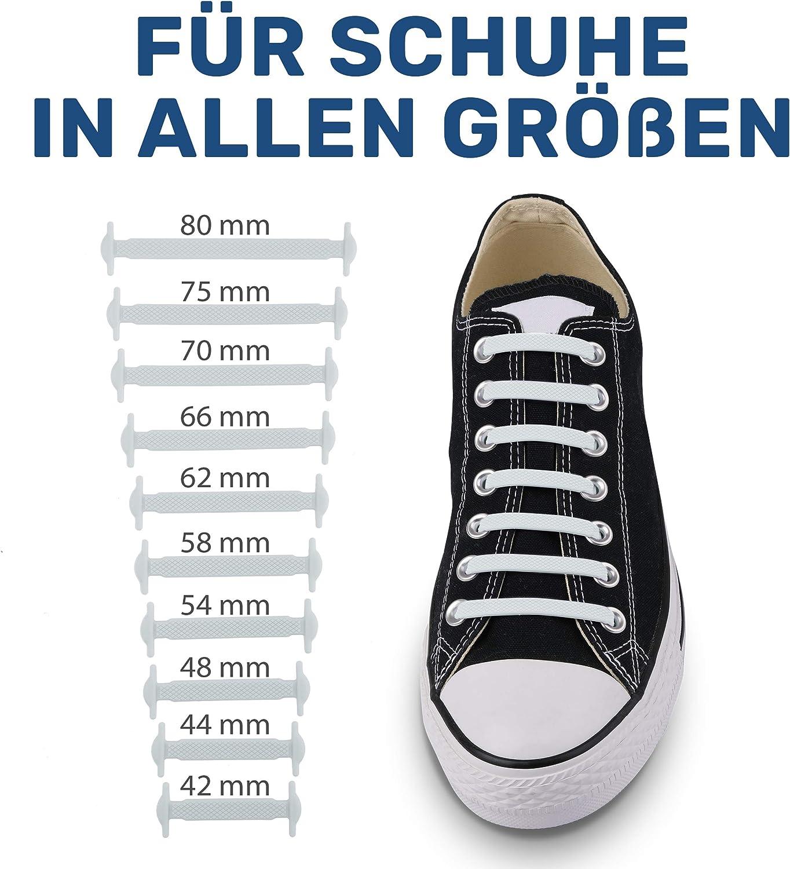 Gummi Schuhb/änder in 13 Farben erh/ältlich EINF/ÜHRUNGSANGEBOT Silikon Schn/ürsenkel elastische Schn/ürsenkel f/ür Kinder und Erwachsene Schn/ürsenkel ohne binden Blauwerk