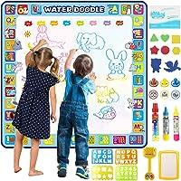 Tobeape® 100 X 100 cm Extra Large Aqua Magic Doodle Mat, Colorful Educational Water Drawing Doodling Mat Coloring Mat…