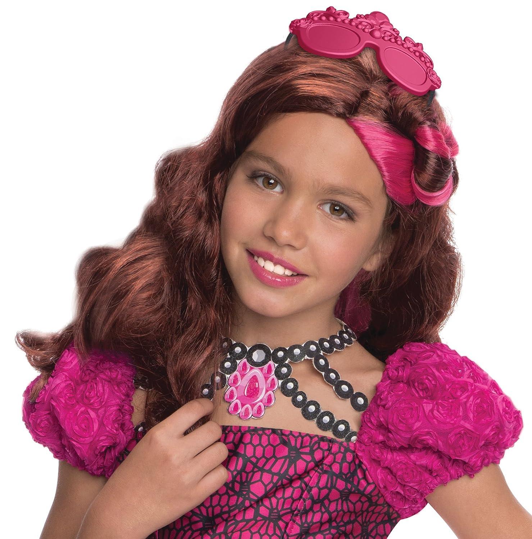 Rubies s - Disfraz de oficial Mattel Briar Beauty Ever After High peluca, los niños - un tamaño: Amazon.es: Juguetes y juegos