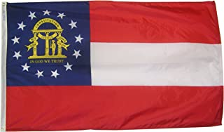 product image for Annin Flagmakers Model 141162 Georgia State Flag 3x5 ft. Nylon SolarGuard Nyl-Glo 100% Made in USA to Official State Design Specifications.