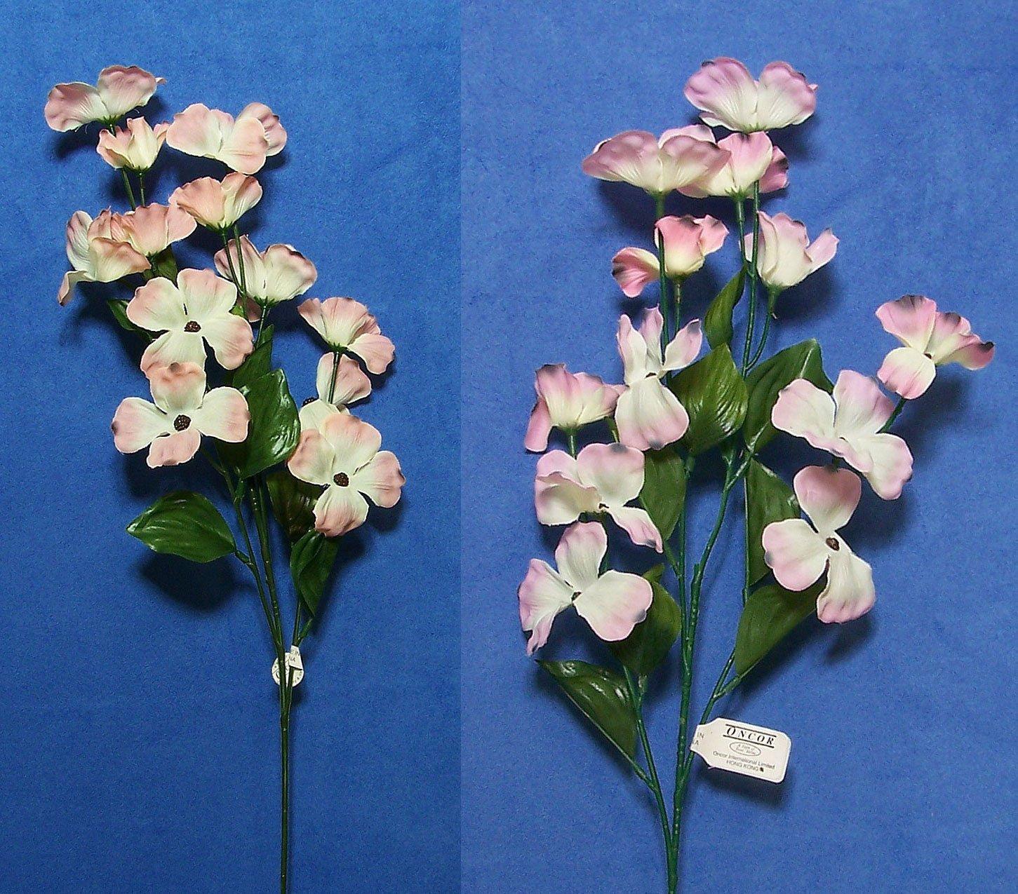 "silk flower arrangements six quality 22"" choose dogwood artificial faux silk flower spray"