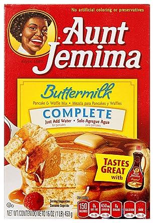 Aunt Jemima Pancake & waffle mix buttermilk complete preparado para panqueques 453g