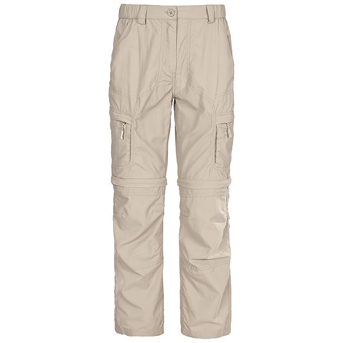 0fa68e66d420f Trespass Womens Ladies Hurtles Convertible Cargo Trousers (S) (Mushroom)