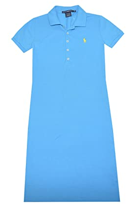 73e3e242 Polo Ralph Lauren Women's Sport Cotton Mesh Dress-Blue-XS at Amazon ...