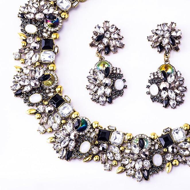 Amazon.com: Jane Stone Fashion Gold Collar Necklaces Bling ...