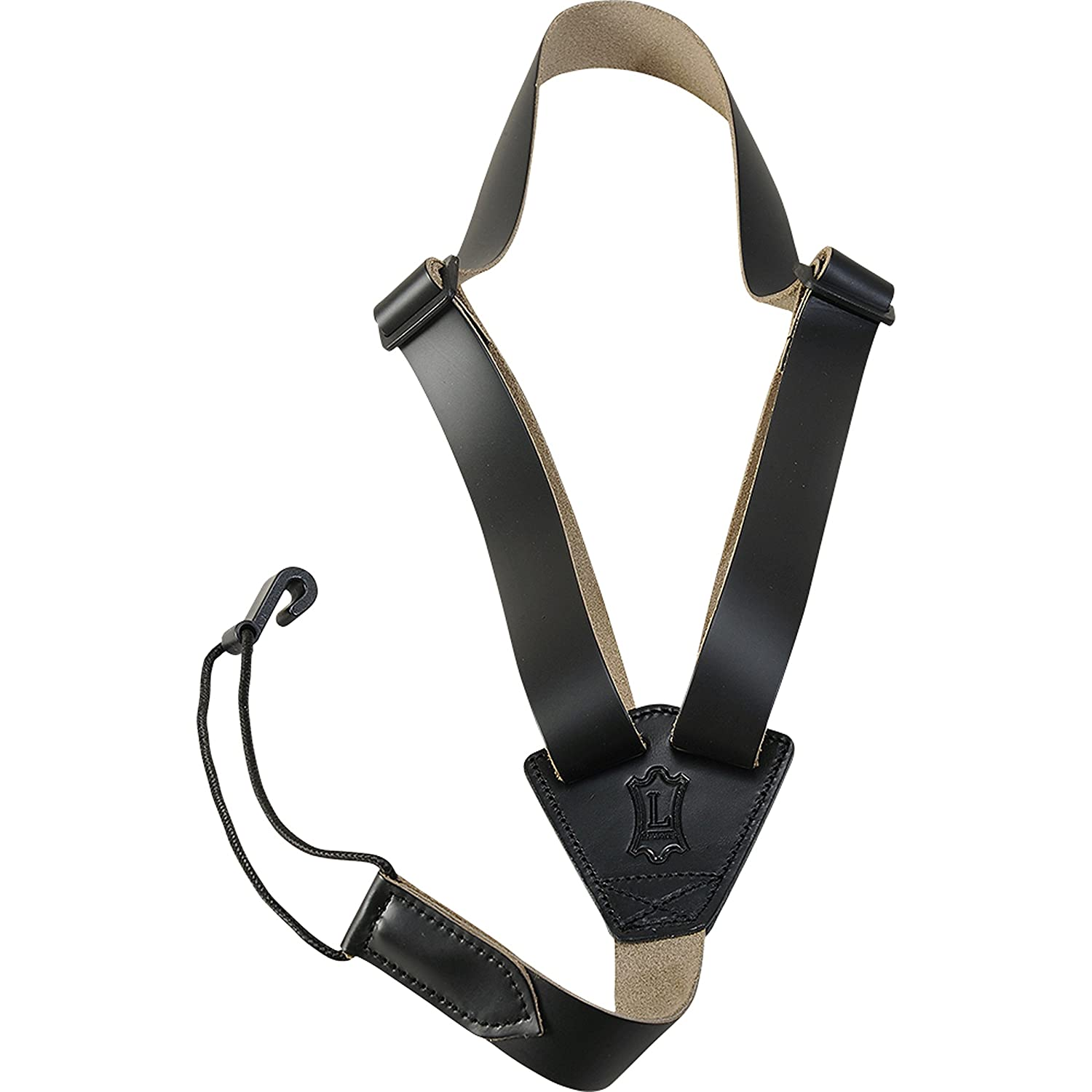 Levy's Leathers 2 Leather Classical Strap,Black Levy's Leathers M20L-BLK