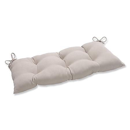 Pillow Perfect Indoor Outdoor Solar Linen Swing Bench Cushion