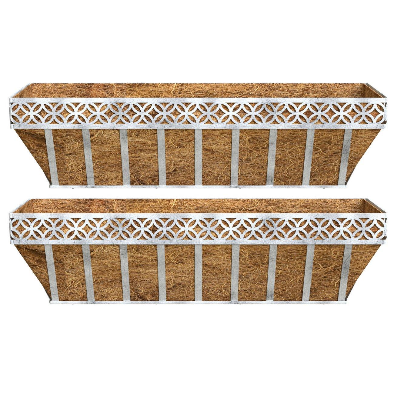Better Homes and Gardens Patio Lattice Coco Window Box Planter (2)