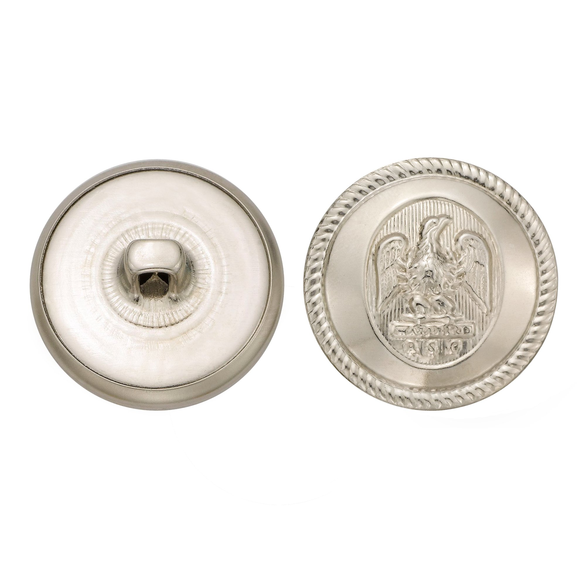 C&C Metal Products 5064 Rope Rim Usa Eagle Metal Button, Size 36 Ligne, Nickel, 36-Pack