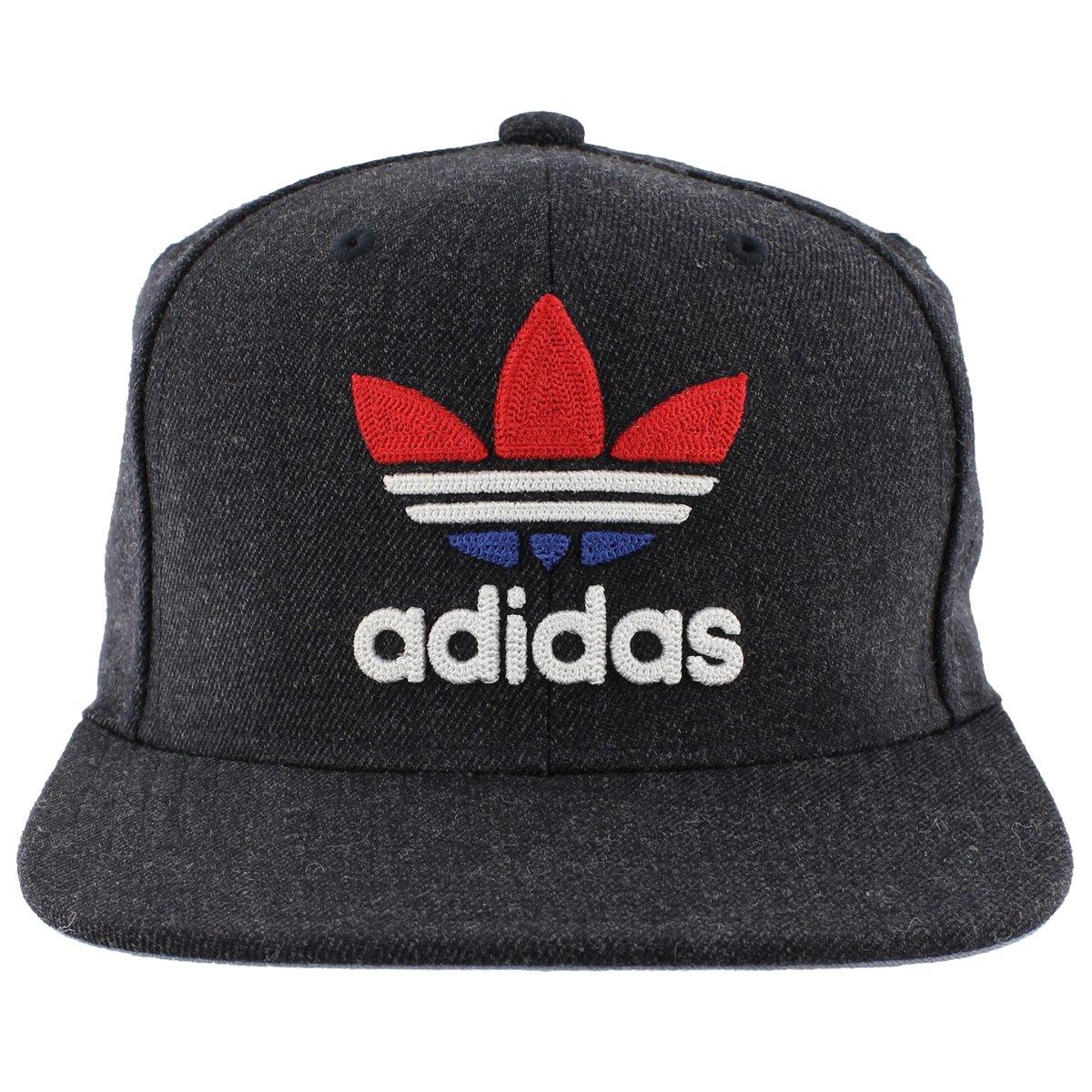 adidas Men's Originals Snapback Flatbrim Cap, Heather Navy, One Size by adidas Originals (Image #2)
