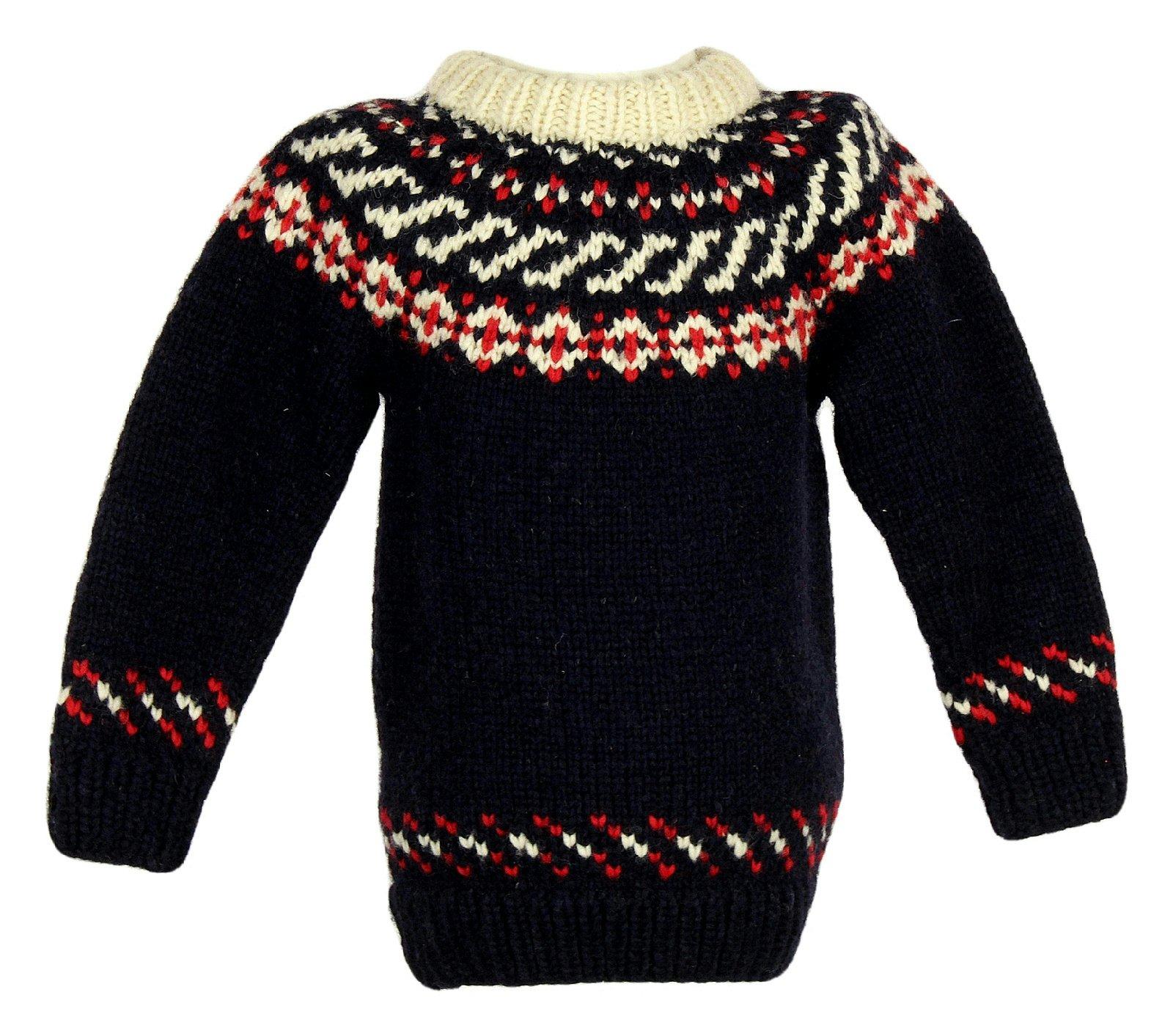 Crewcuts Kids Canadian Sweater Company Hand Knit Wool Sweater Sz M B5259