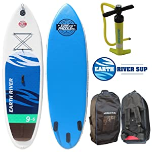 Earth River SUP 9'6″x31″ Inflatable Stand Up Paddle Board