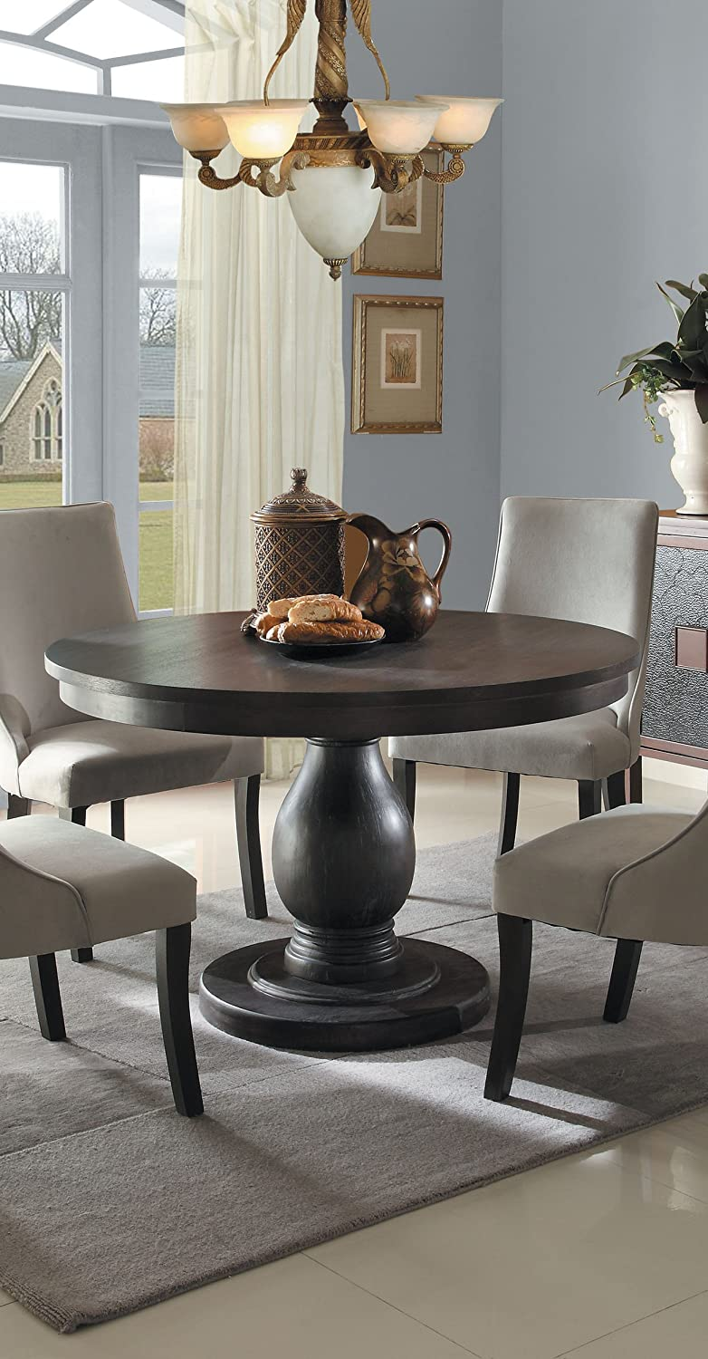 Amazon com 2466 48 style round pedestal table by homelegance kitchen dining