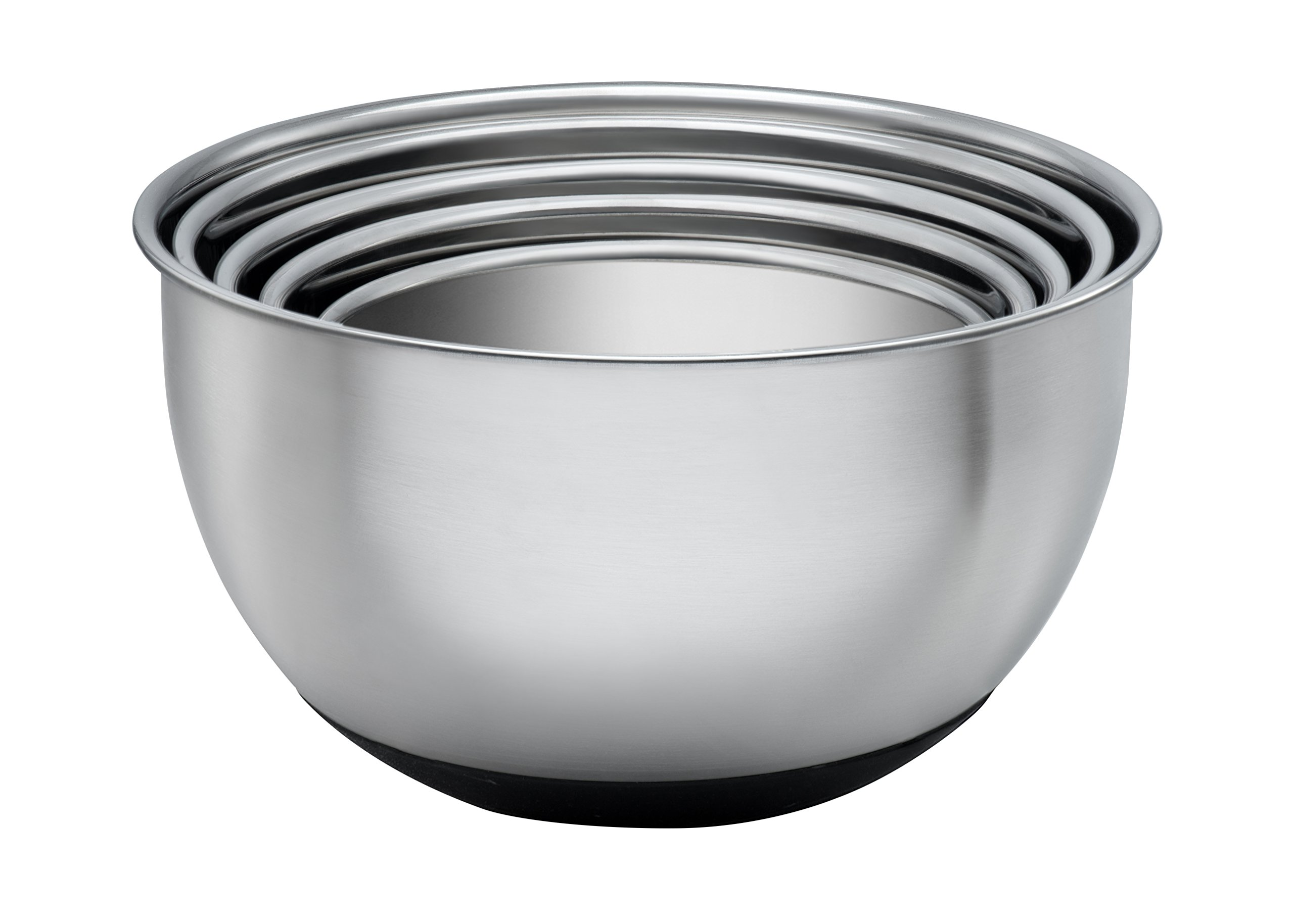 mixing bowl set 5 piece stainless steel lids nested bowls covers graters kitchen 689740862194 ebay. Black Bedroom Furniture Sets. Home Design Ideas