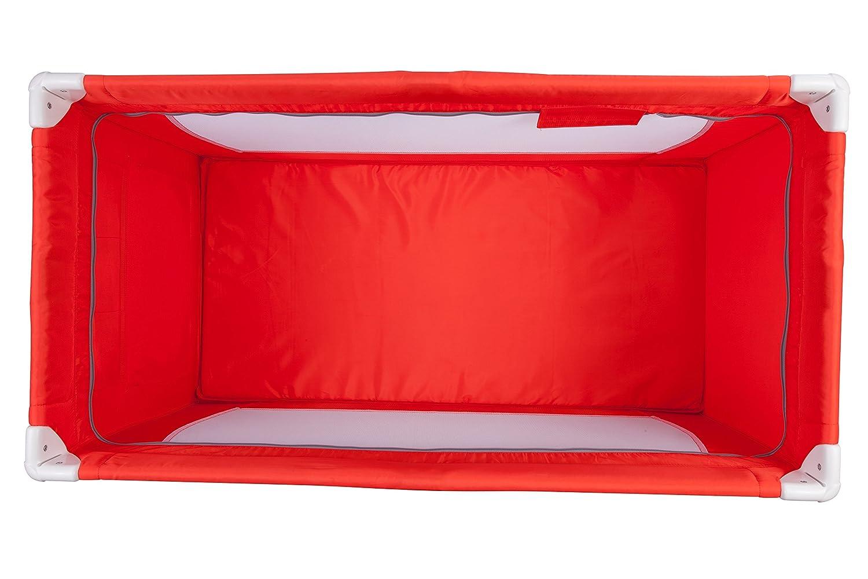 Cuna de viaje Safety 1st FULL DREAMS Red Lines 0-3 a/ños 15 Kg color rojo