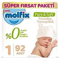 Molfix Pure&Soft Bebek Bezi, 1 Beden, 92 Adet