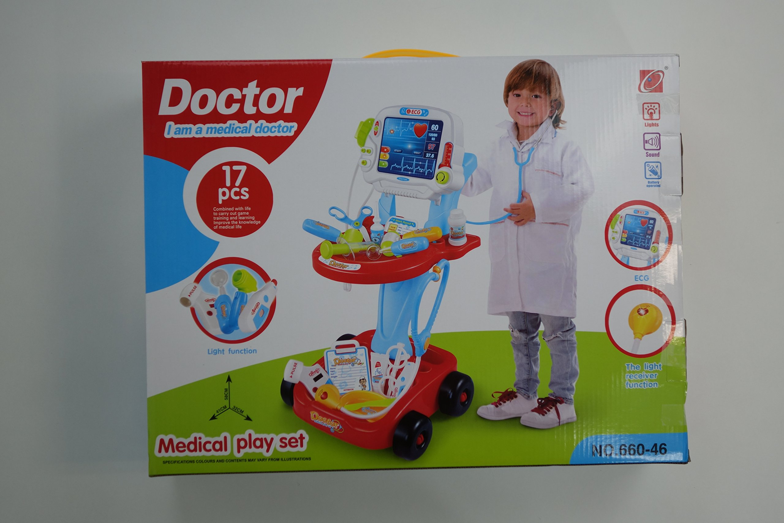 NBD Corp Kids Toy Portable Doctor Set, 17 Piece Set with Play Screen and Play Doctor Instruments by NBD Corp (Image #2)