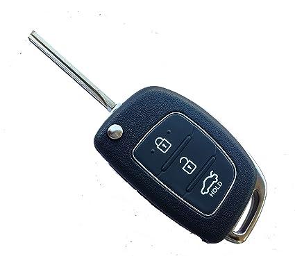 Carkey Hyundai Flip Key Replacement Shell For Hyundai I20, Verna, Xcent,  Igen , Sportz, Magna(New Model)