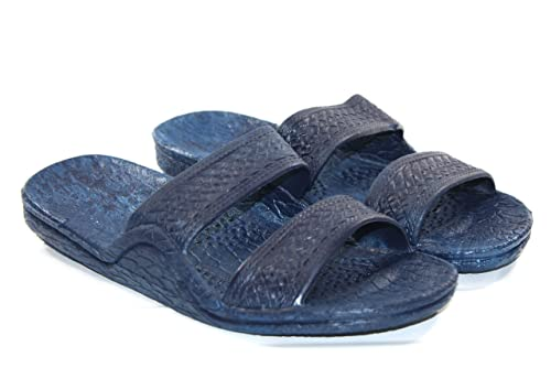 8b3c06ce84e76c Image Unavailable. Image not available for. Color  Pali Hawaii Unisex Blue Rubber  Slide on Jesus Sandal Slippers ...