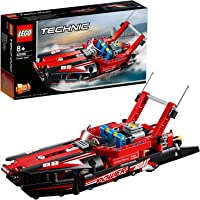 LEGO TECHNIC Power Boat Building Blocks for Kids (174 Pcs)42089
