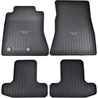 Amazon Com Husky Liners 99371 Black Weatherbeater Front 2nd Seat Floor Liners Fits 2015 2019 Ford Mustang Automotive