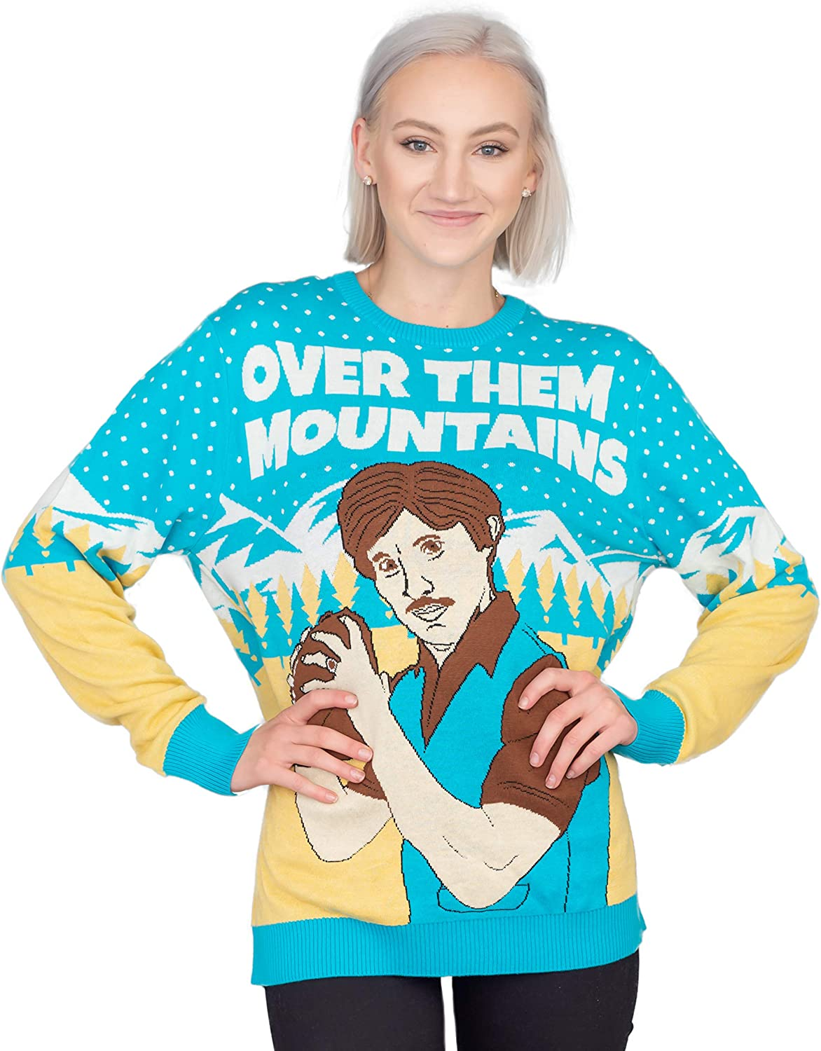 Napoleon Dynamite Uncle Rico Over Them Mountains Ugly Christmas Sweater