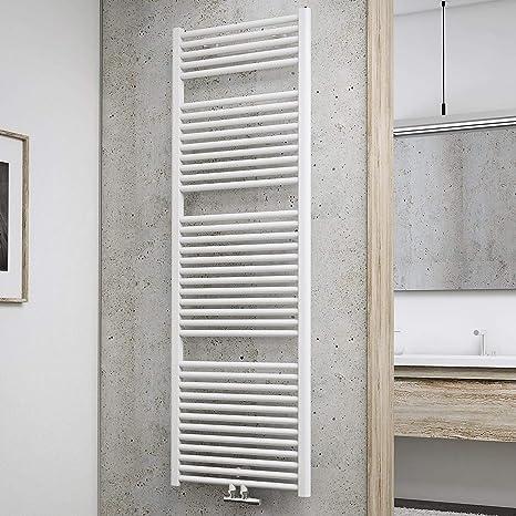 Schulte Bad-Heizkörper München, 177 x 60 cm, 1129 Watt, Mittelanschluss,  alpin-weiß, Design-Heizkörper für Zweirohrsysteme