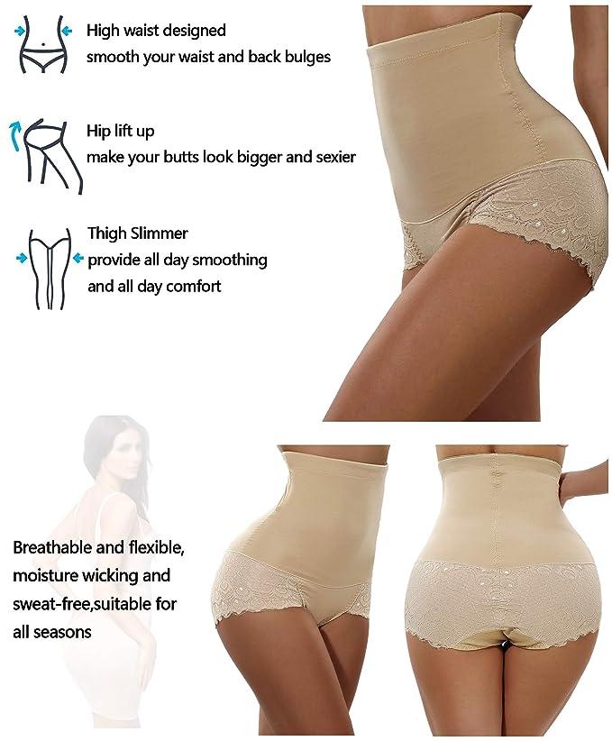 b972d8b4abae4 Gotoly Women Body Shaper High Waist Butt Lifter Tummy Control Panty Slim  Waist Trainer at Amazon Women s Clothing store