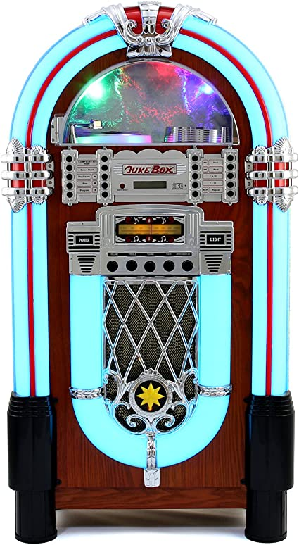 Jukebox anni 50 - cd, usb, memory cards sd/mmc, radio, bluetooth e aux 10667