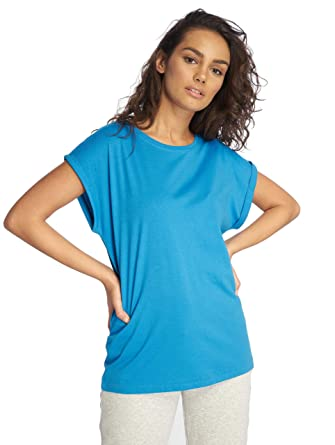 765bff7e8c8776 Urban Classics Damen T-Shirt Ladies Extended Shoulder Tee  Amazon.de   Bekleidung