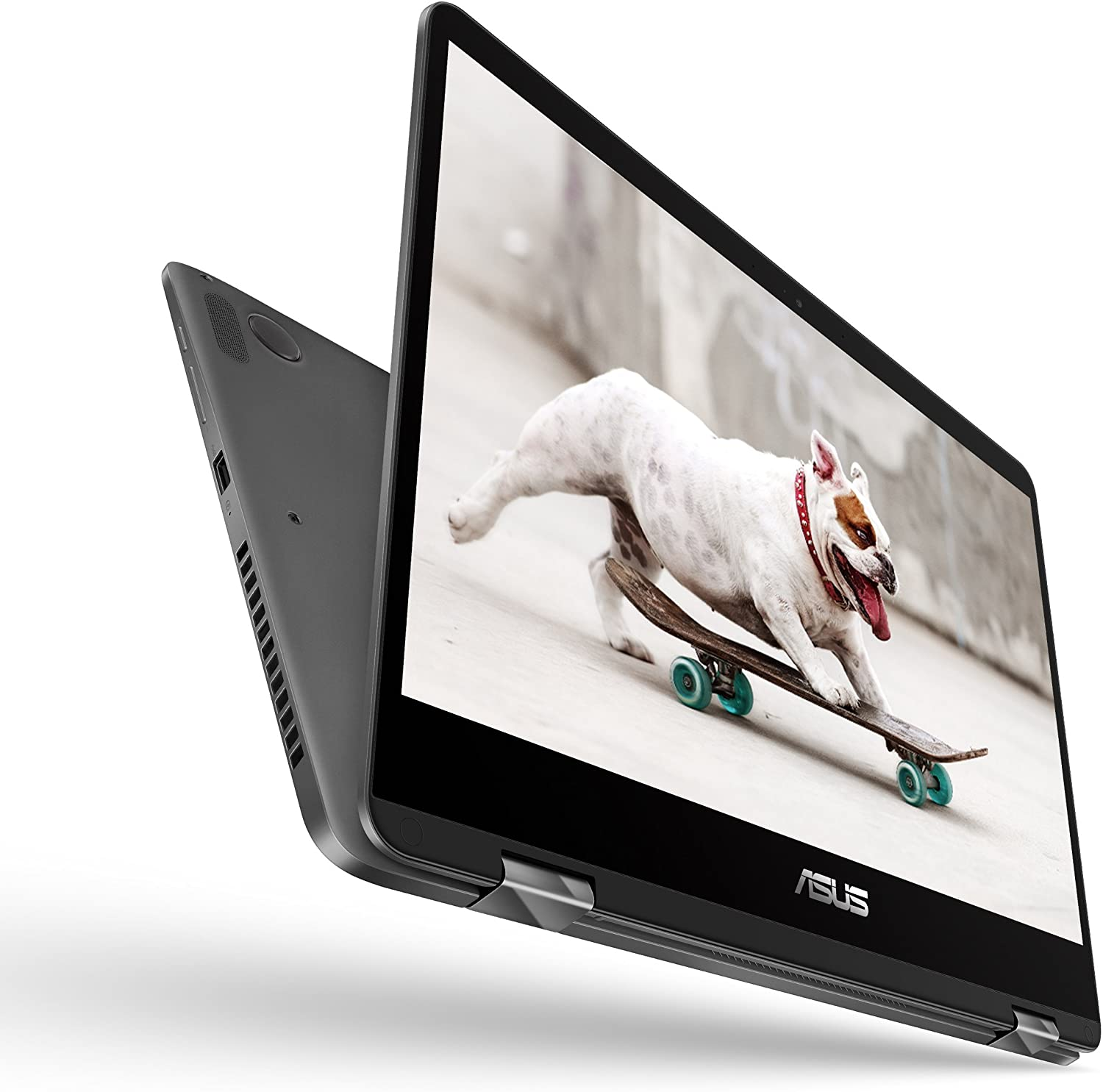 "ASUS ZenBook Flip 14 UX461UA-DS51T Ultra-Slim Convertible Laptop 14"" FHD wideview display 8th gen Intel Core i5 Processor, 8GB, 256GB SATA SSD, Windows 10, Backlit keyboard, Fingerprint, Stylus pen"