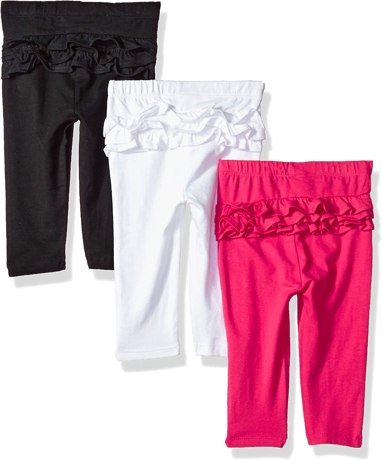 Polo Assn U.S Baby Girls 3 Pack Jersey Spandex Legging Pant