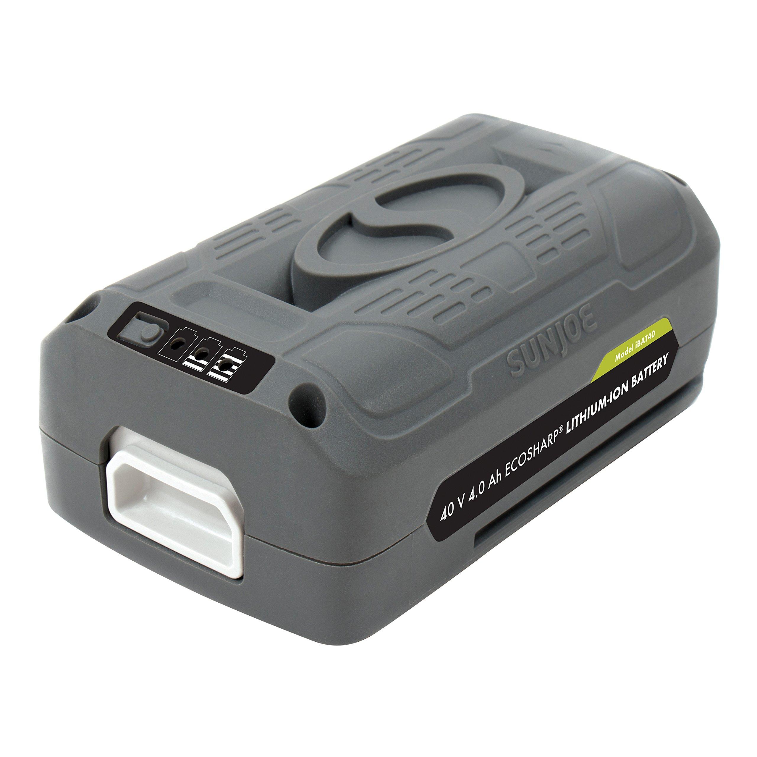 Snow Joe + Sun Joe iONMAX iBAT40 EcoSharp Lithium-Ion Battery | 40 Volt | 4.0 Ah product image