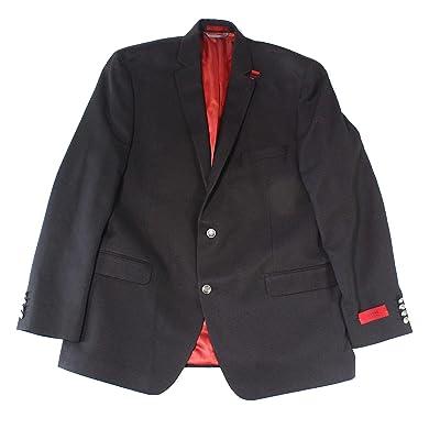 Alfani Mens Slim Fit Two Button Sportcoat Black 40L at Men's Clothing store