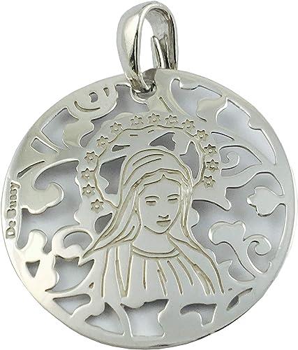 Medalla Virgen de Medjugorje en Plata de Ley