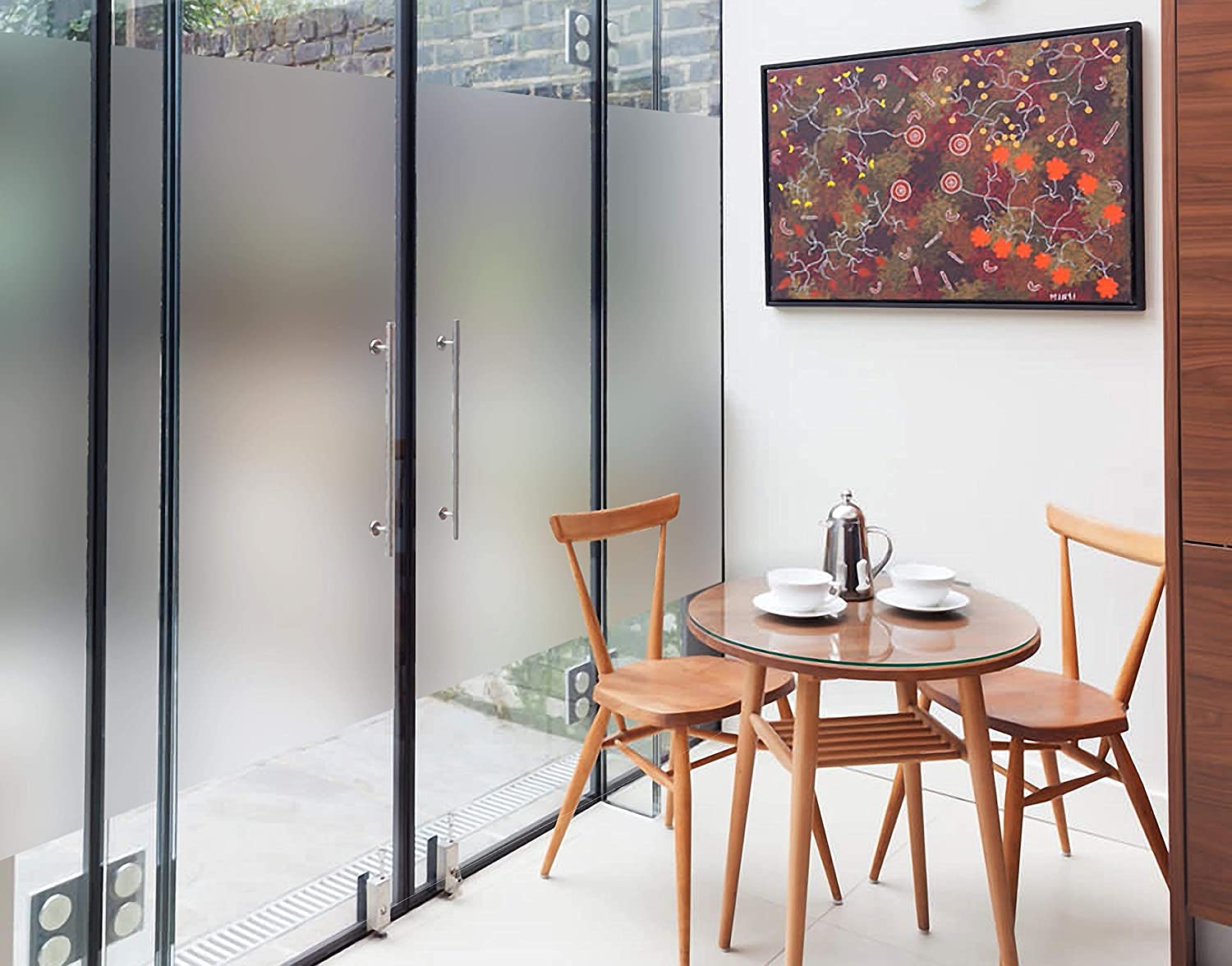 Buy walldesign frosted window self adhesive privacy glass film for glass cabinet glass partition sliding window 18 x 72 inch online at low prices in india