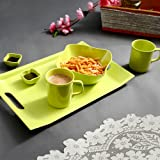 Iveo Melamine Snack Serving Set, 6-Pieces, Green