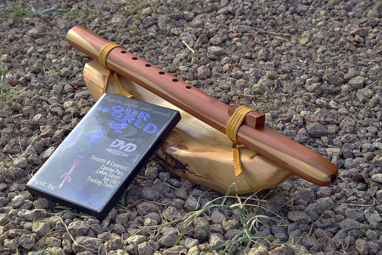 Windpony key of G 6-hole Cedar Native American Style Flute with DVD