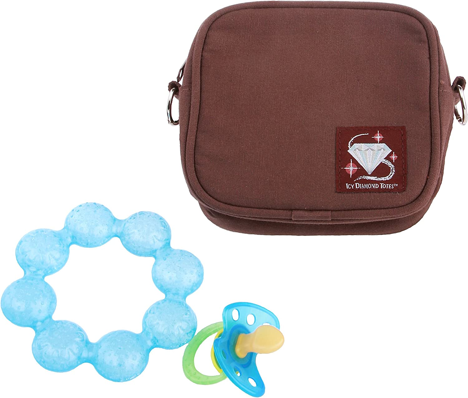 teethers for insulin snacks Icy Diamond Tote Small Insulated Tote Bag Brown