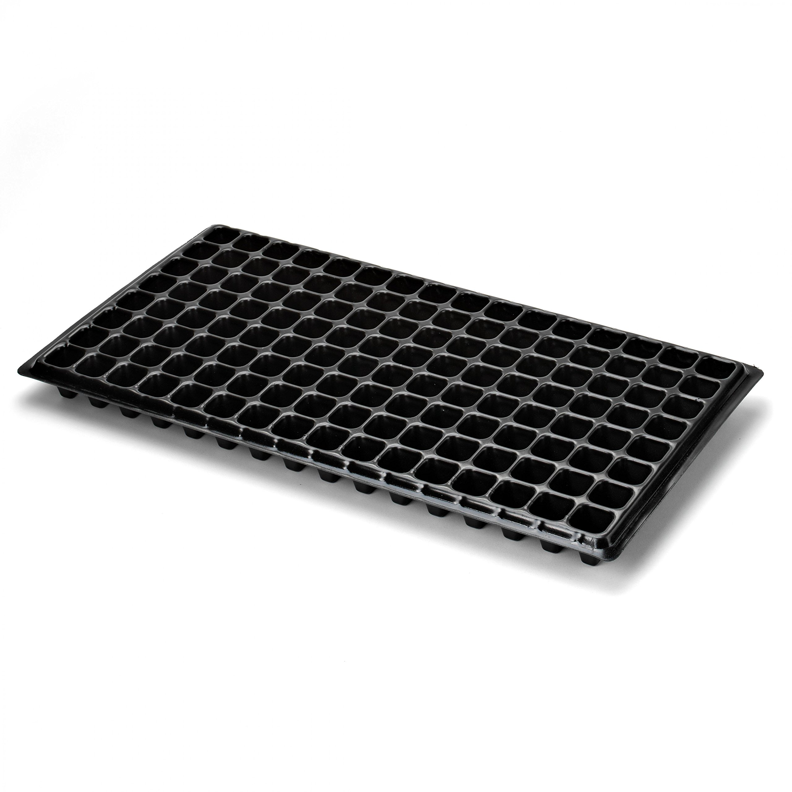 128 Cell Seedling Tray - Extra Strength 10 Pack, Seed Starter Grow Trays for Starting Plantings Propagation, Germination 1020 Plug Flat by Bootstrap Farmer