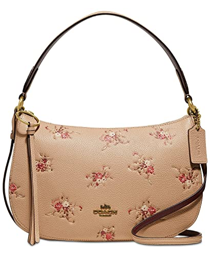 large assortment ever popular structural disablities COACH Women's Floral Print Leather Sutton Crossbody